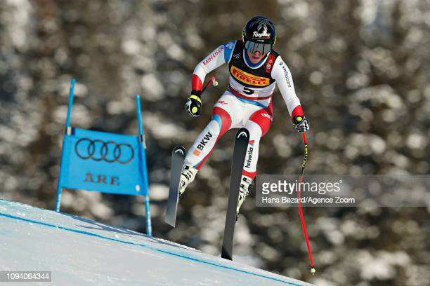 Lara Gutbehrami of Switzerland in action during the FIS World Ski Championships Women's Super G on February 5 2019 in Are Sweden
