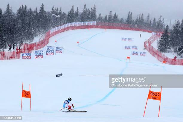 Lara Gutbehrami of Switzerland in action during the FIS World Ski Championships Women's Alpine Combined on February 8 2019 in Are Sweden