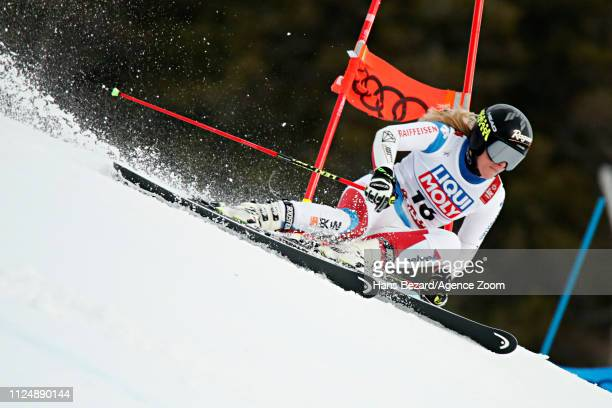 Lara Gutbehrami of Switzerland in action during the FIS World Ski Championships Women's Giant Slalom on February 14 2019 in Are Sweden