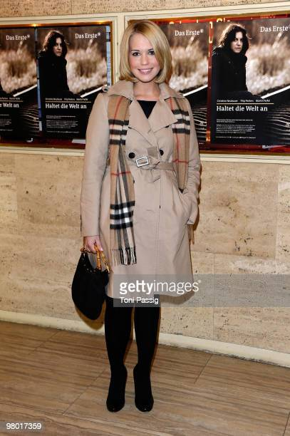 Lara Isabell Rentinck attends the premiere of 'Haltet Die Welt An' at Astor Film Lounge on March 24 2010 in Berlin Germany