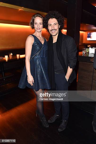 Lara Joy Koerner and Boris Entrup during 'Allude Celebrates Cashmere' at Heart Club on February 14 2016 in Munich Germany