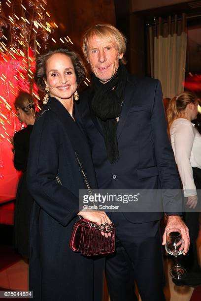 Lara Joy Koerner and Carlo Traenhardt during the christmas party at Hotel Vier Jahreszeiten Kempinski on November 24 2016 in Munich Germany