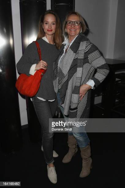 Lara Joy Koerner and Diana Koerner attend the Ndf Afterwork Party at 8 Seasons on March 20 2013 in Munich Germany