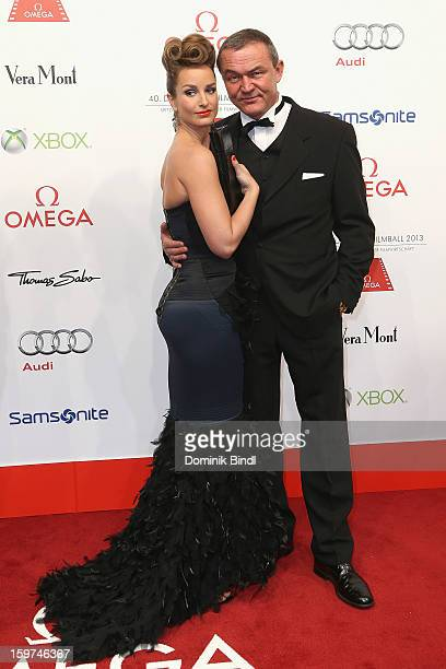 Lara Joy Koerner and Heiner Pollert attend the Germany Filmball 2013 at Hotel Bayerischer Hof on January 19 2013 in Munich Germany