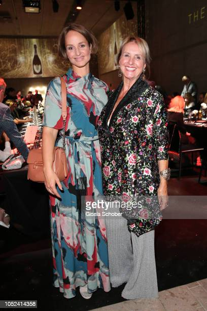 Lara Joy Koerner and her mother Diana Koerner during the Dom Perignon 'The Legacy' event on October 17 2018 in Munich Germany