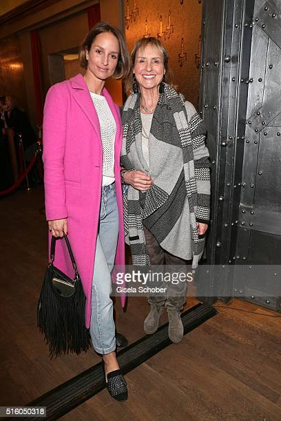 Lara Joy Koerner and her mother Diana Koerner during the NdF after work press cocktail 2016 at Park Cafe on March 16 2016 in Munich Germany