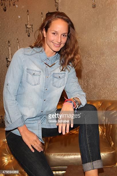 Lara Joy Koerner attends the NDF After Work Presse Cocktail at Parkcafe on March 19 2014 in Munich Germany