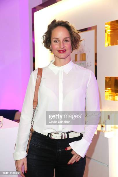 Lara Joy Koerner during the La Maison Valmont opening on January 11 2019 in Munich Germany