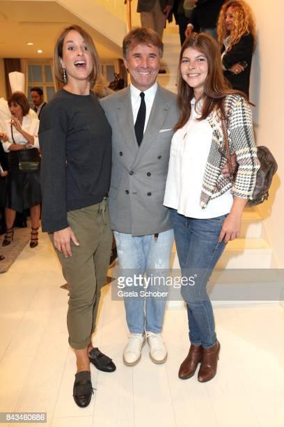 Lara Joy Koerner Fashion designer founder and president Brunello Cucinelli and Julia FrankTewaag daughter of Uschi Glas during the Brunello Cucinelli...