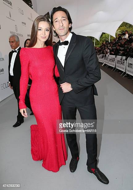 Lara Leito and Adrian Brody attend amfAR's 22nd Cinema Against AIDS Gala Presented By Bold Films And Harry Winston at Hotel du CapEdenRoc on May 21...