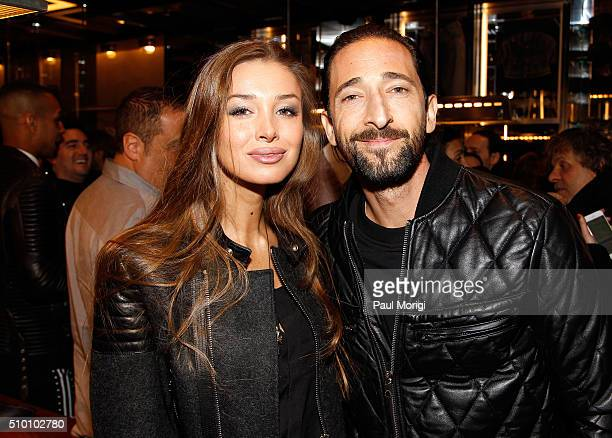 Lara Leito and Adrien Brody attend the after party celebrating DIESEL's Madison Avenue flagship on February 13 2016 in New York City