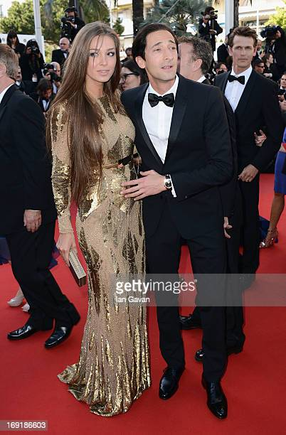 "Lara Leito and Adrien Brody attend the ""Cleopatra"" Premiere during the 66th Annual Cannes Film Festival at Grand Theatre Lumiere on May 21, 2013 in..."