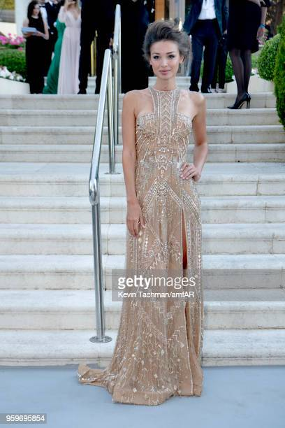 Lara Leito arrives at the amfAR Gala Cannes 2018 at Hotel du CapEdenRoc on May 17 2018 in Cap d'Antibes France