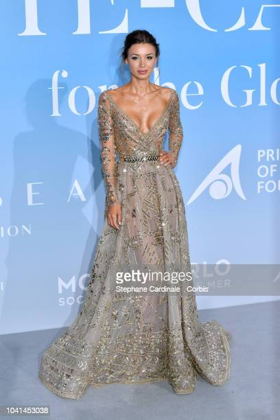 Lara Leito attends the MonteCarlo Gala for the Global Ocean 2018 on September 26 2018 in MonteCarlo Monaco