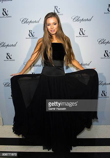 Lara Leito attends the Ralph Russo and Chopard dinner during part of Paris Fashion Week on January 25 2016 in Paris France