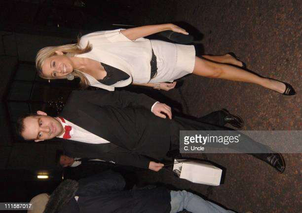 Lara Lewington and guest during 2005 British Comedy Awards Departures at Londo Television Studios in London Great Britain