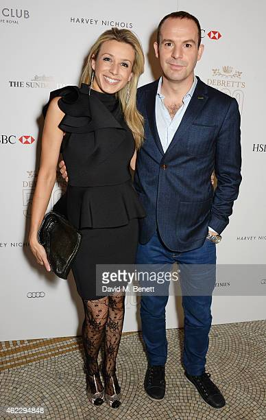 Lara Lewington and Martin Lewis attend Debrett's 500 party, hosted at The Club at Cafe Royal on January 26, 2015 in London, England. The Debrett's...