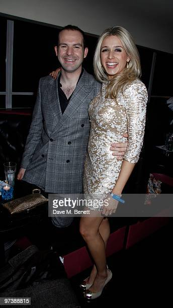 """Lara Lewington and Martin Lewis attend """"The Shouting Men"""" premiere after party at Sound on March 02, 2010 in London,England."""