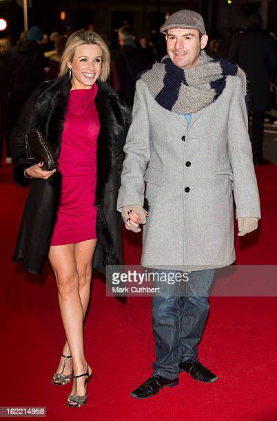 Lara Lewington and Martin Lewis attend the UK Premiere of 'Arbitrage' at Odeon West End on February 20, 2013 in London, England.