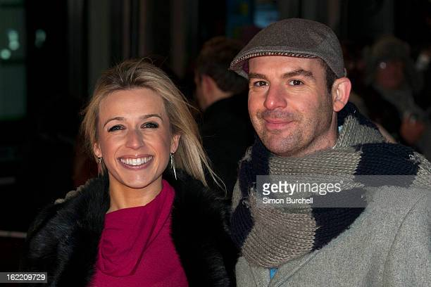 Lara Lewington and Martin Lewis attends the UK Premiere of 'Arbitrage' at Odeon West End on February 20, 2013 in London, England.