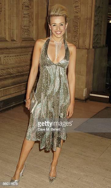 Lara Lewington arrives at the National Television Awards 2005 at the Royal Albert Hall on October 25 2005 in London England