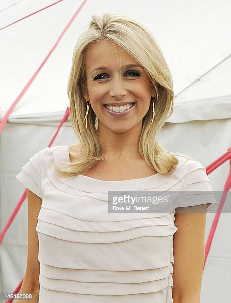 Lara Lewington attends the Cartier Queen's Cup Polo Day 2012 at Guards Polo Club on June 17, 2012 in Egham, England.