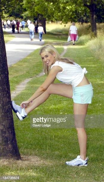 Lara Lewington during Hydro Active Women's Challenge Photocall at Regent's Park in London Great Britain