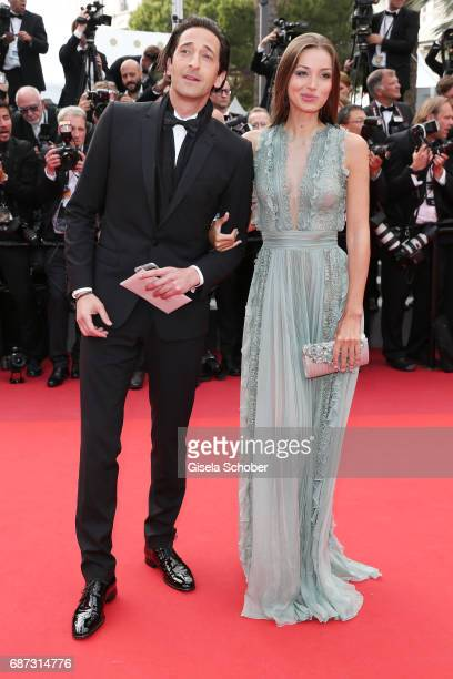 Lara Lieto and Adrien Brody attend the 70th Anniversary screening during the 70th annual Cannes Film Festival at Palais des Festivals on May 23 2017...