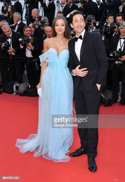 Lara Lieto and Adrien Brody attend the Ismael's Ghosts screening and Opening Gala during the 70th annual Cannes Film Festival at Palais des Festivals...