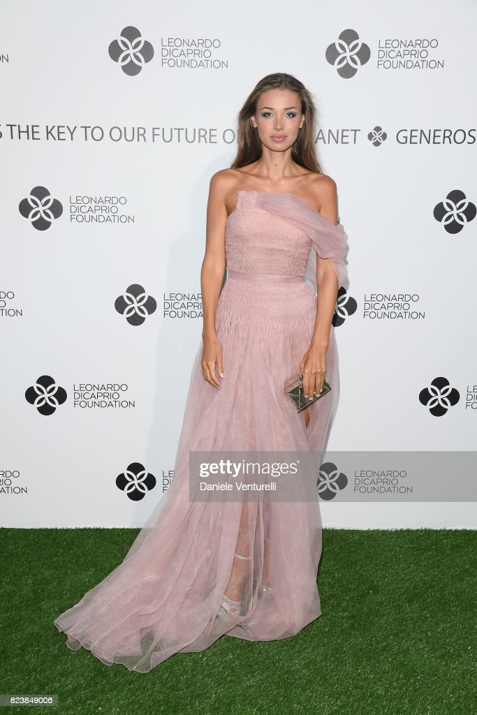 Lara Lieto attends the Leonardo DiCaprio Foundation 4th Annual Saint-Tropez Gala at Domaine Bertaud Belieu on July 27, 2017 in Saint-Tropez, France.