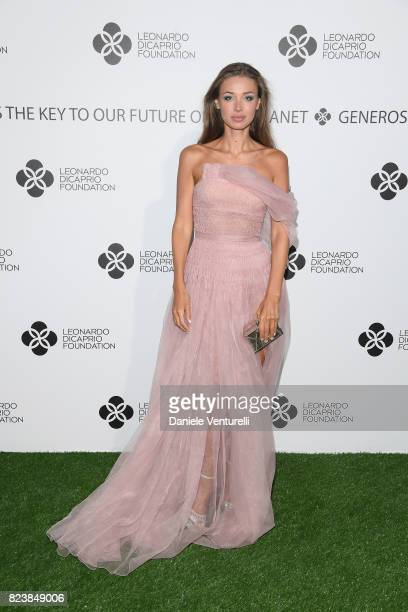 Lara Lieto attends the Leonardo DiCaprio Foundation 4th Annual SaintTropez Gala at Domaine Bertaud Belieu on July 27 2017 in SaintTropez France