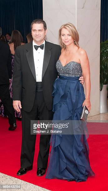 Lara Logan and husband Joseph Burkett arrive for the White House Correspondents' Association dinner