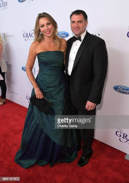 Lara Logan and Joseph Burkett attend the 42nd Annual Gracie Awards Gala, hosted by The Alliance for Women in Media at the Beverly Wilshire Hotel on...