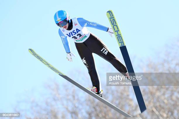 Lara Malsiner of Italy competes in the Ladies normal hill individual during day one of the FIS Ski Jumping Women's World cup at Miyanomori Ski Jump...