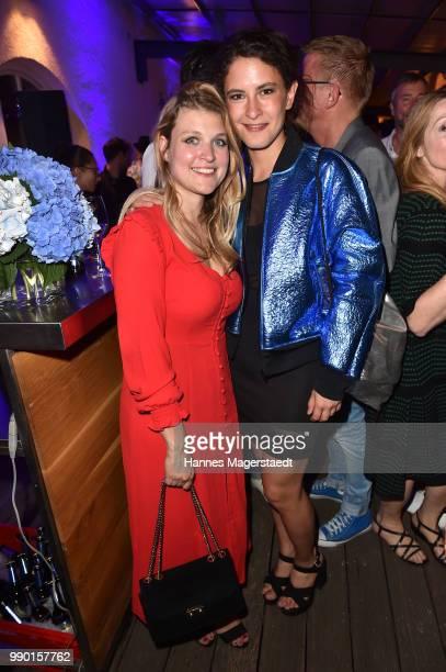 Lara Mandoki and Amanda da Gloria attend the UFA Fiction Reception during the Munich Film Festival 2016 at Cafe Reitschule on July 2 2018 in Munich...