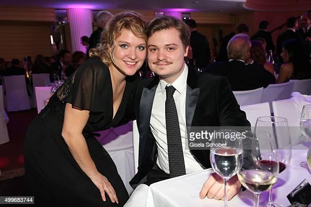 Lara Mandoki and her brother Gabor Mandoki the Audi Generation Award 2015 at Hotel Bayerischer Hof on December 2, 2015 in Munich, Germany.
