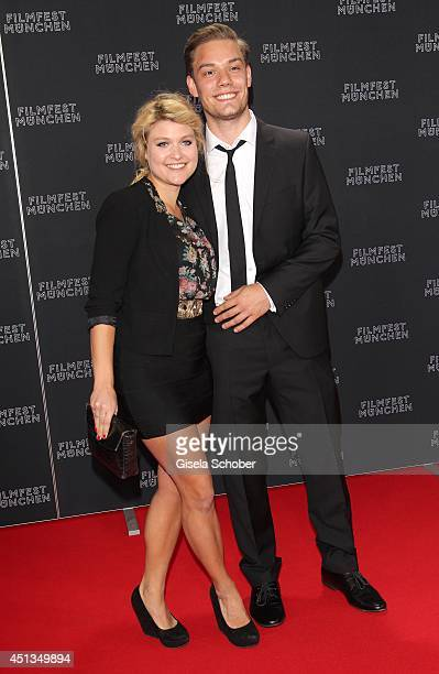 Lara Mandoki and Julian Bayer attend the opening night of the Munich Film Festival at Mathaeser Filmpalast on June 27 2014 in Munich Germany