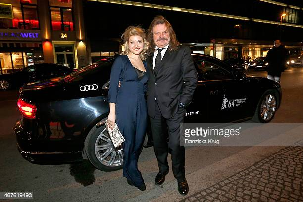 Lara Mandoki and Leslie Mandoki attend the 'Studio Babelsberg Berlinale Party - Audi At The 64th Berlinale International Film Festival at Borchardt...