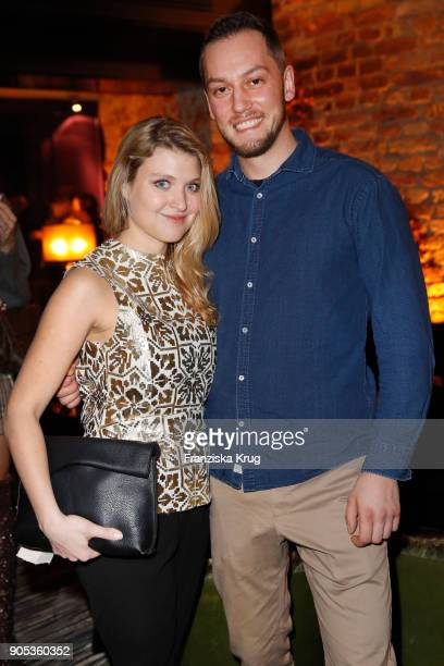 Lara Mandoki and Max von Hammerstein during the Bunte New Faces Night at Grace Hotel Zoo on January 15, 2018 in Berlin, Germany.
