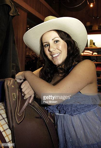 Lara Marshall from 'Saddle Club' attends the Opening Night of Warner Village Theme Parks' $23 mllion evening show extravaganza Australian Outback...