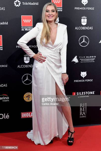 Lara Martinez attends Feroz awards 2020 red carpet at Teatro Auditorio Ciudad de Alcobendas on January 16 2020 in Madrid Spain