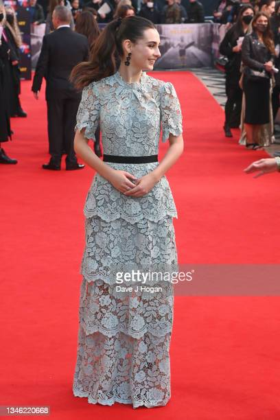 """Lara McDonnell attends the """"Belfast"""" European Premiere during the 65th BFI London Film Festival at The Royal Festival Hall on October 12, 2021 in..."""