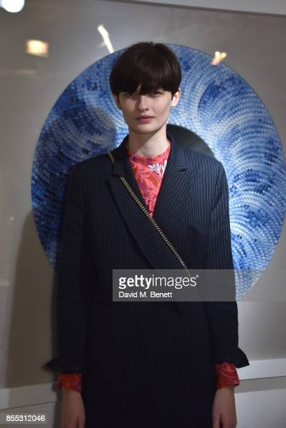 Lara Mullen attends a private view of artist Chemical X's new exhibition 'CX300' at The Vinyl Factory on September 28 2017 in London England