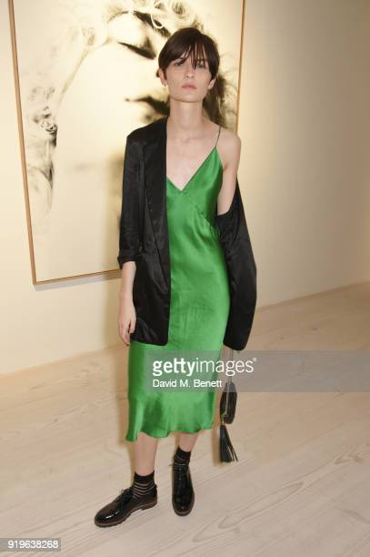 Lara Mullen attends the AnOther Magazine The Store X official opening of 'Prints Film Posters More A Willy Vanderperre Exhibition' at 180 The Strand...