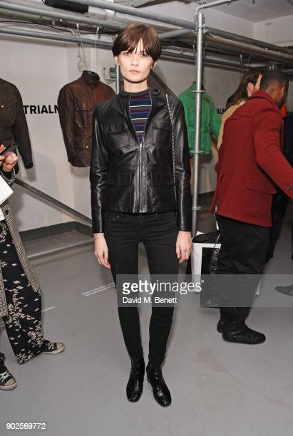 Lara Mullen attends the Belstaff presentation during London Fashion Week Men's January 2018 at The Vinyl Factory Gallery on January 8 2018 in London...