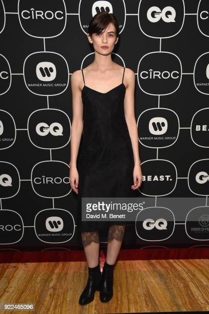 Lara Mullen attends the Brits Awards 2018 After Party hosted by Warner Music Group Ciroc and British GQ at Freemasons Hall on February 21 2018 in...