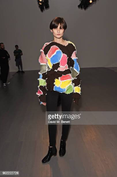 Lara Mullen attends the Christopher Raeburn show during London Fashion Week Men's January 2018 at BFC Show Space on January 7 2018 in London England
