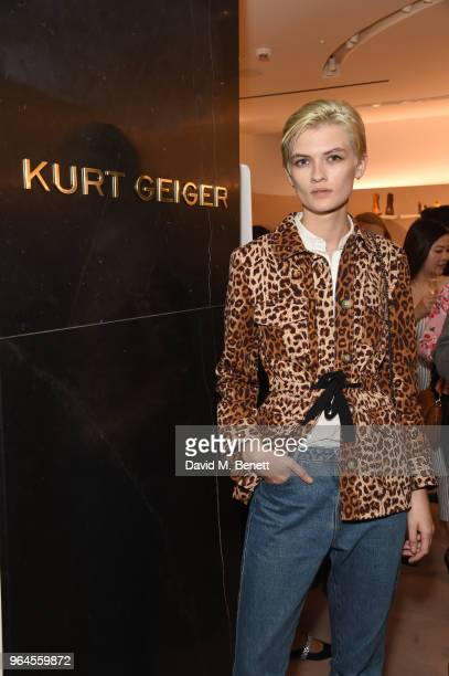 Lara Mullen attends the Kurt Geiger London Boutique launch at Selfridges on May 31 2018 in London England