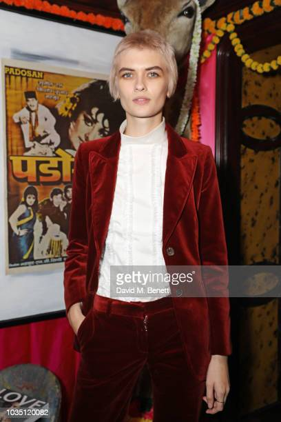 Lara Mullen attends the LOVE Magazine 10th birthday party with PerrierJouet at Loulou's on September 17 2018 in London England