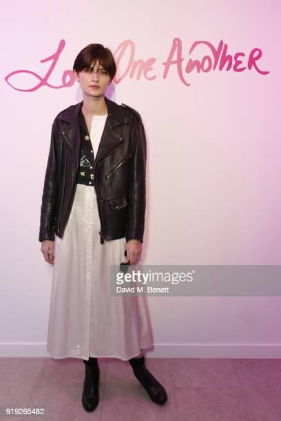 Lara Mullen attends the Lulu Guinness AW18 London Fashion Week presentation on February 17 2018 in London England